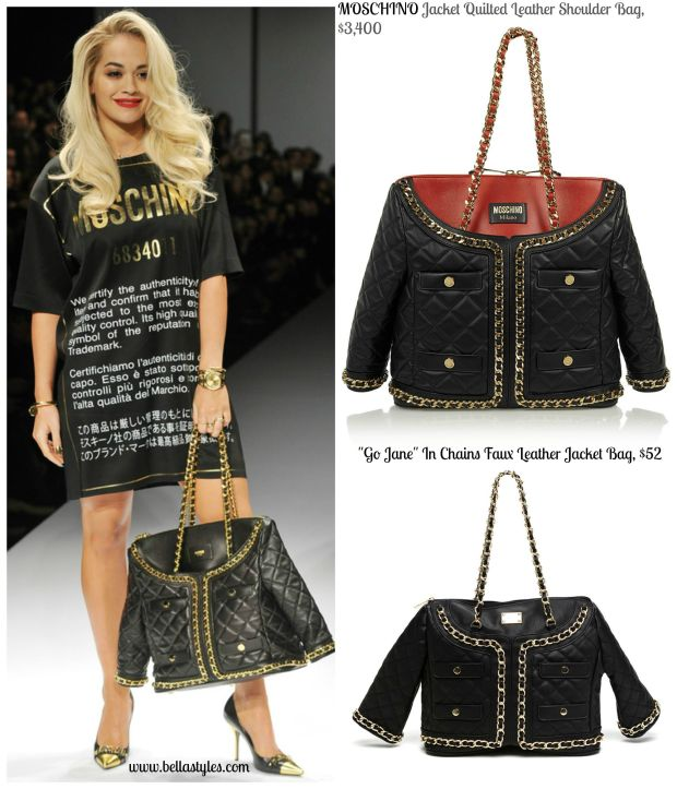 Moschino Jacket Handbag Collage