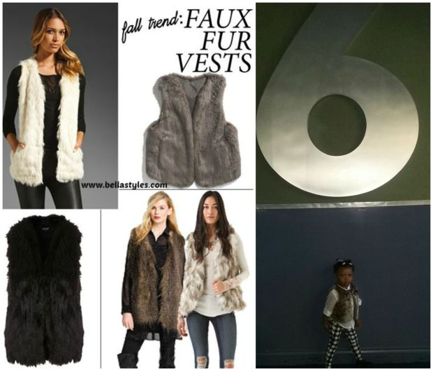 Toni's Faux Fur Vest Trend Collage