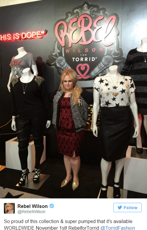 4cf05a6ccef Rebel Wilson Launches REBEL FOR TORRID Fashion Collection at MILK in ...