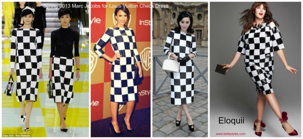 LV Check Dress Collage