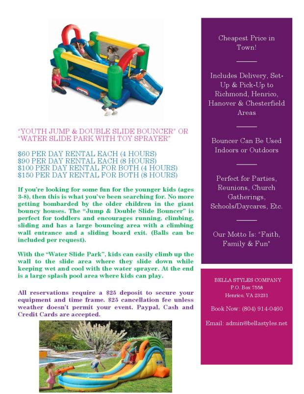 Bounce House & Waterslide Flyer