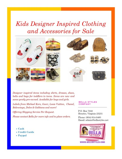 Kids Designer Clothing Flyer