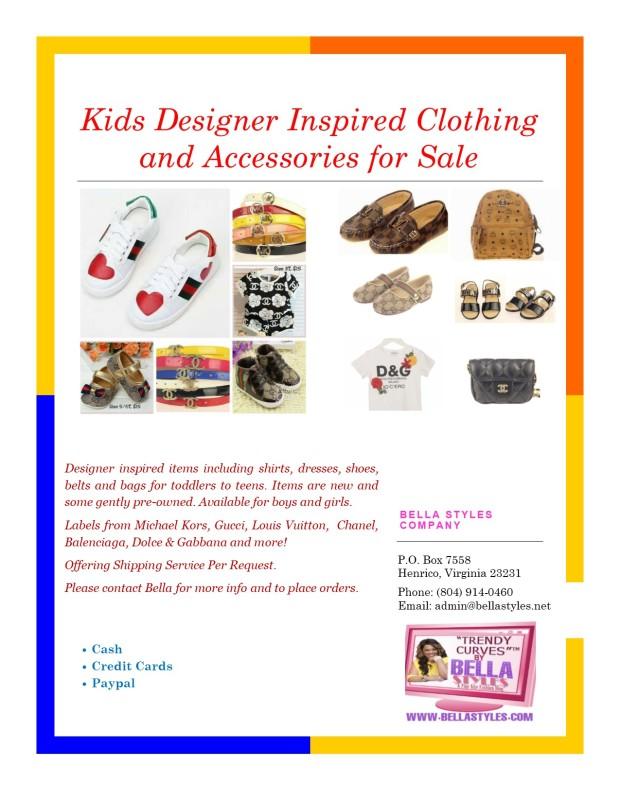 Kids Designer Clothing Flyer