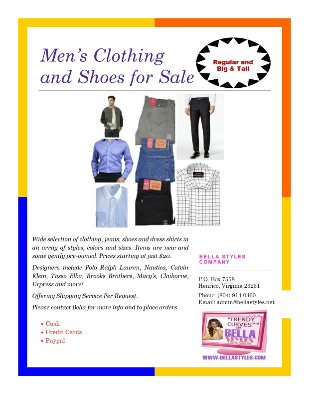 Men's Clothing Flyer