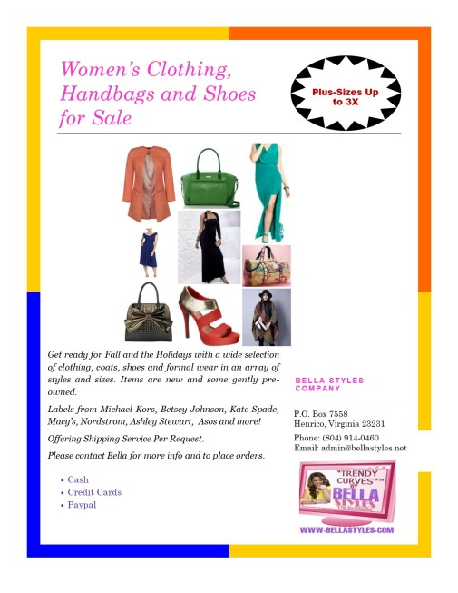 Women's Clothing Flyer